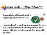 sensor nets smart dust i