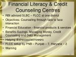 financial literacy credit counseling centres