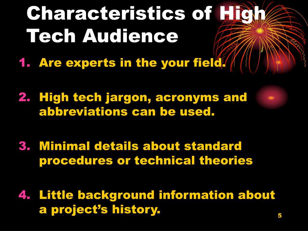 audience characteristics