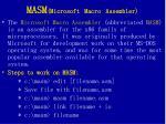 masm microsoft macro assembler