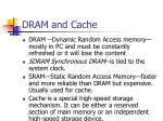 dram and cache