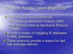 network access layer protocols19