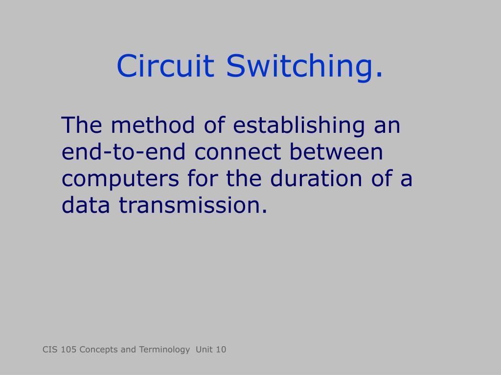 Circuit Switching.