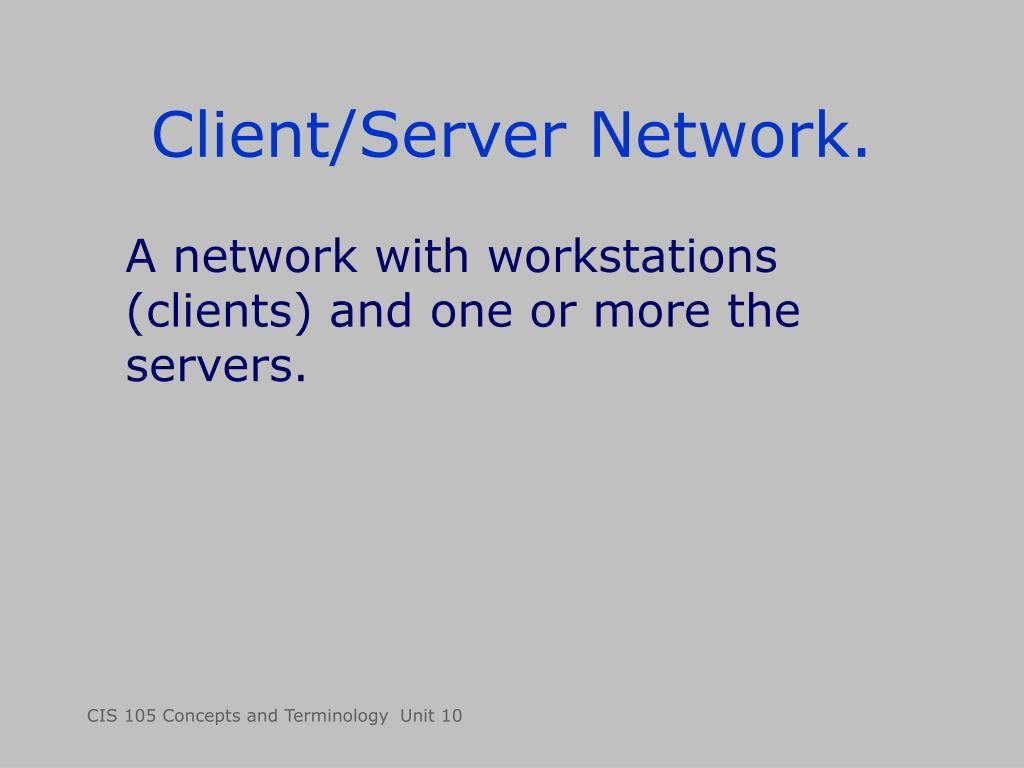 Client/Server Network.
