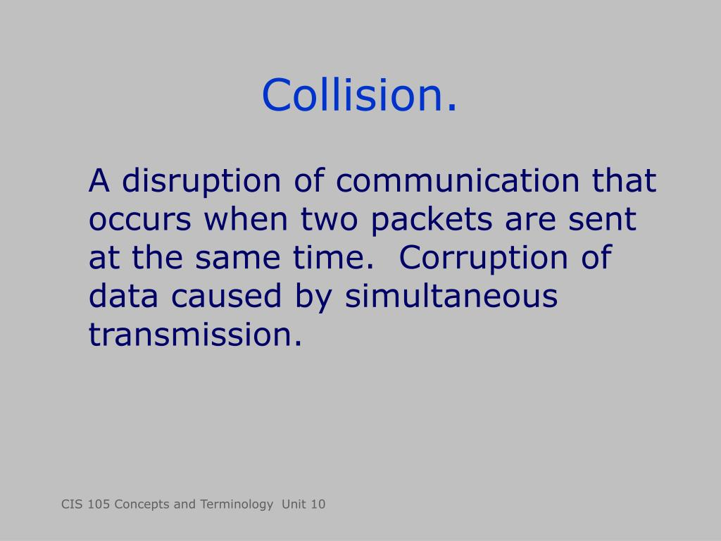 Collision.