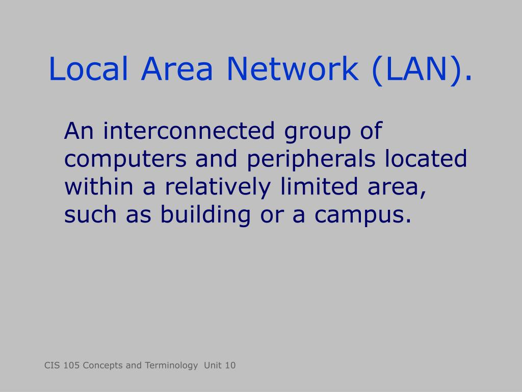 Local Area Network (LAN).