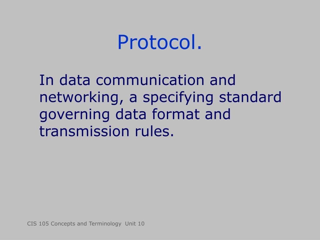 Protocol.