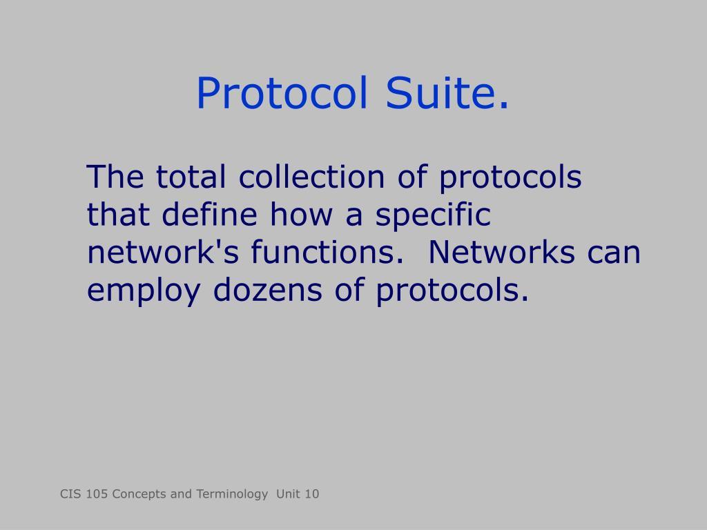 Protocol Suite.