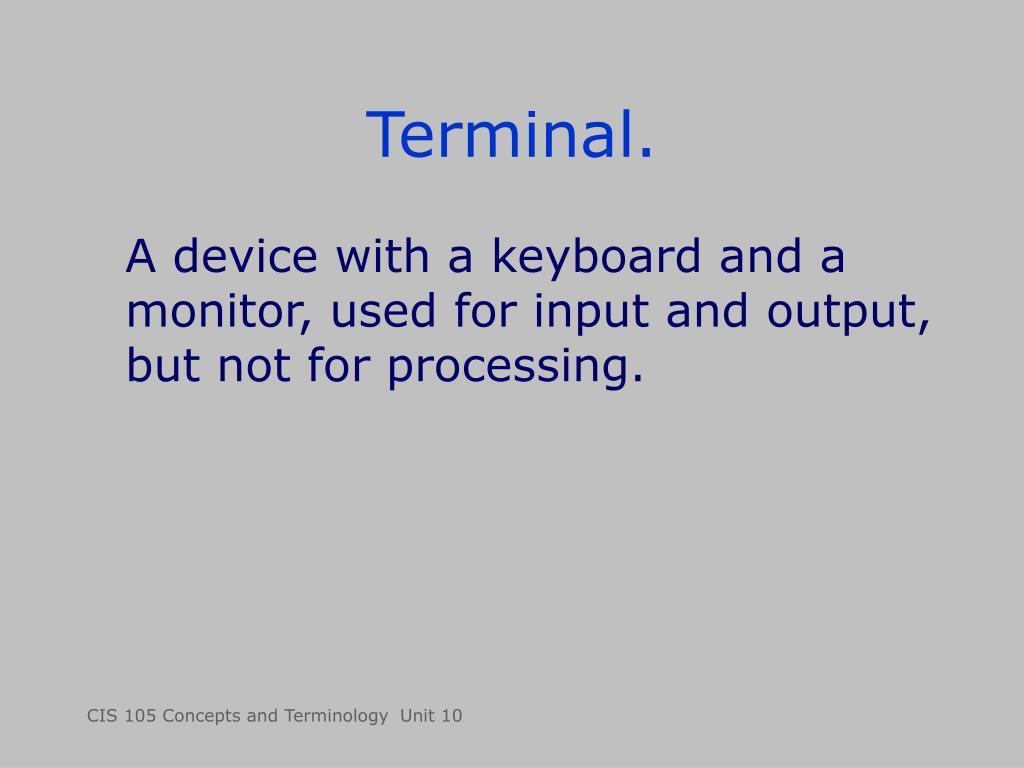 Terminal.