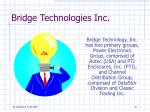 bridge technologies inc