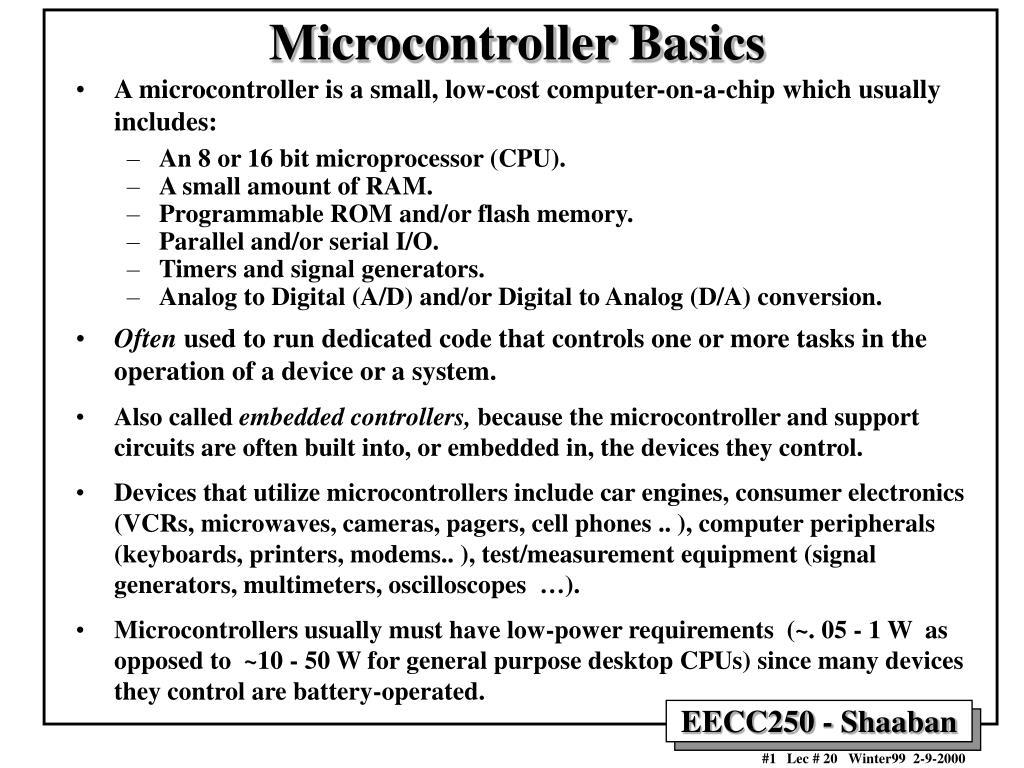 microcontroller basics l.