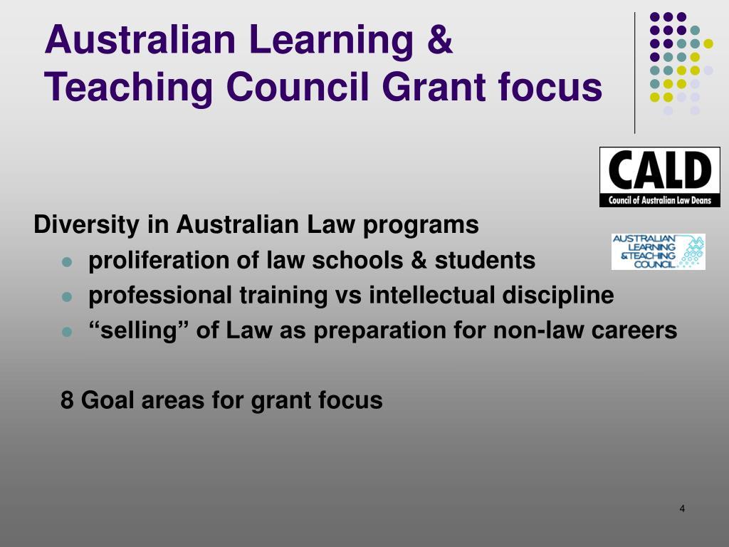 Australian Learning & Teaching Council Grant focus