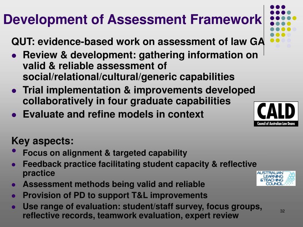 Development of Assessment Framework