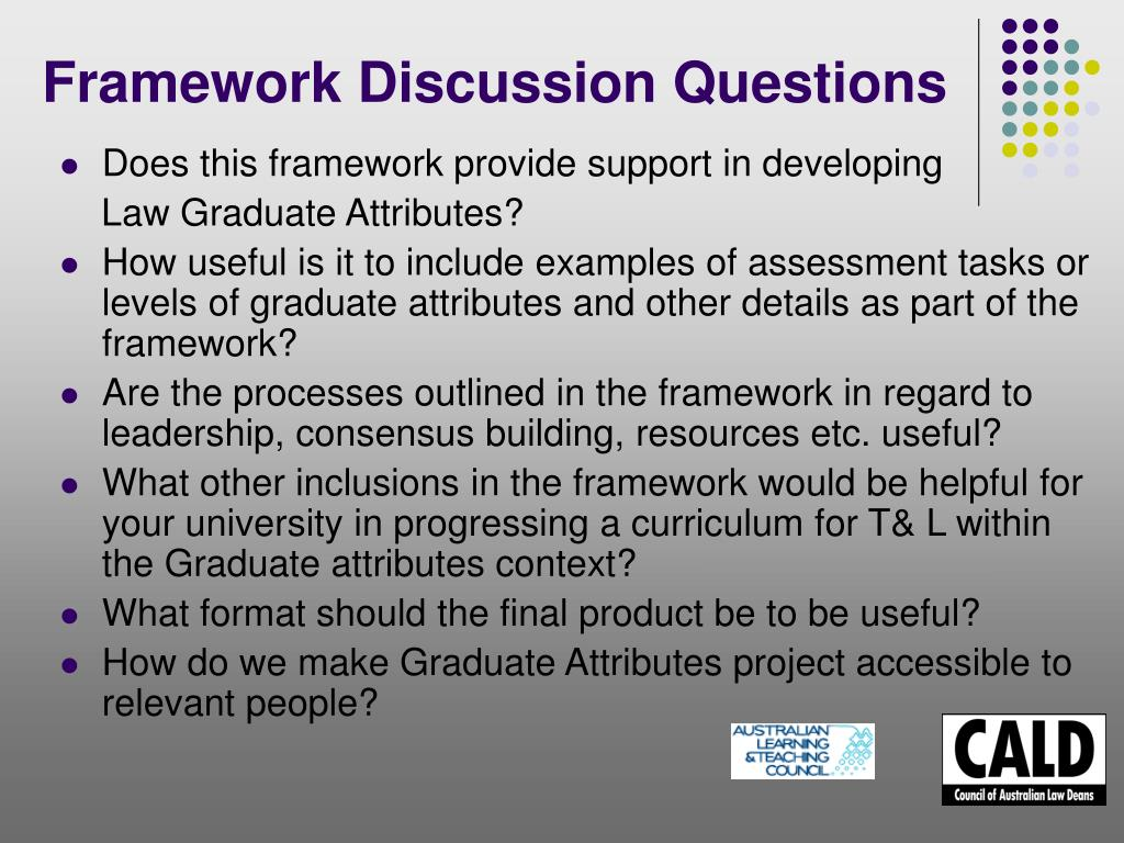 Framework Discussion Questions