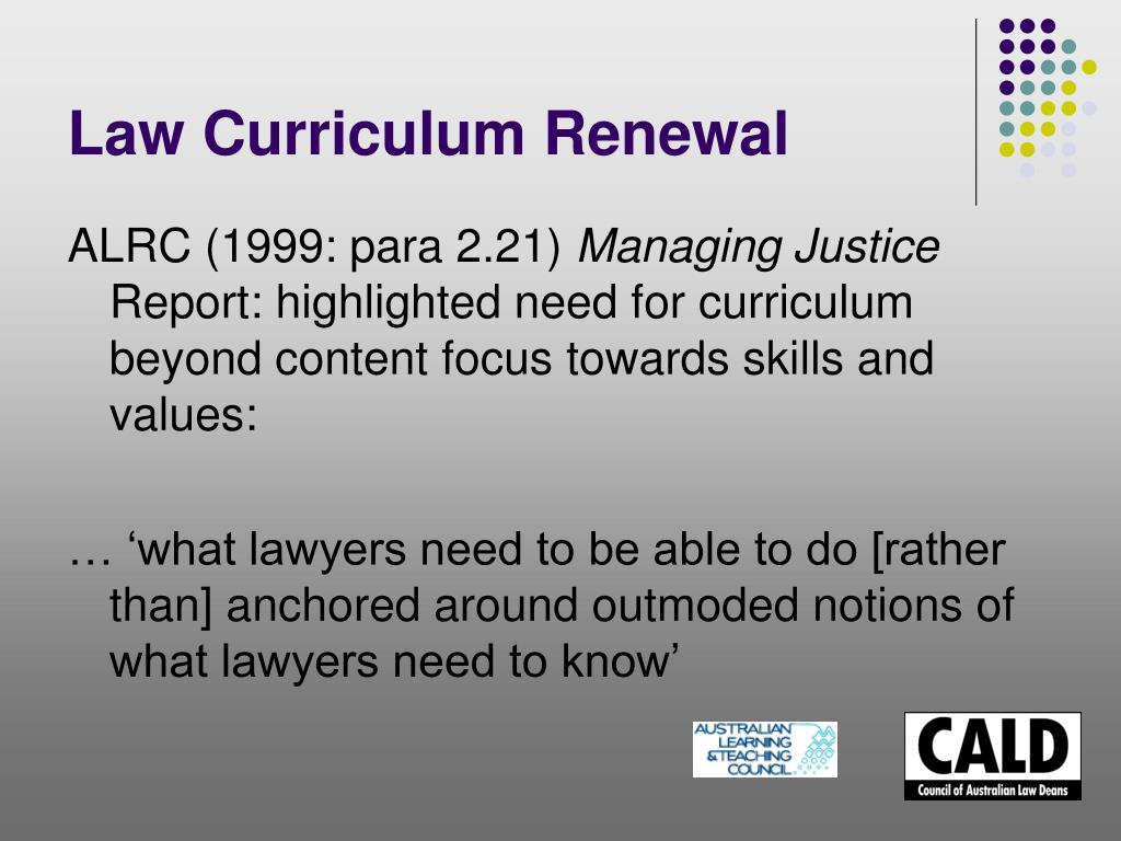 Law Curriculum Renewal