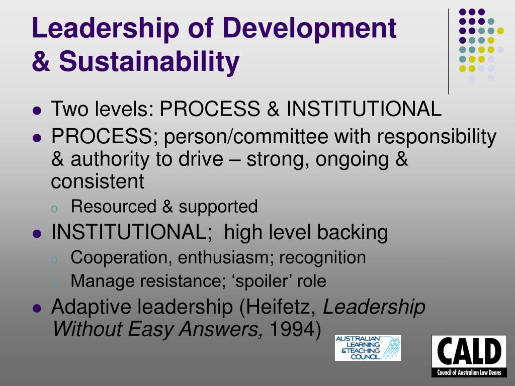 Leadership of Development
