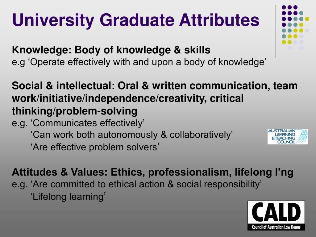 University Graduate Attributes