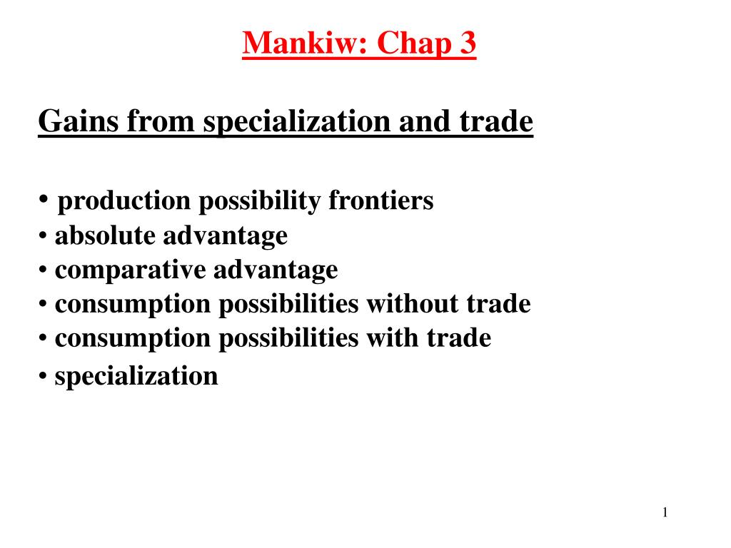 Production Possibilities Frontier Mankiw