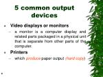 5 common output devices