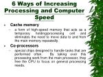 6 ways of increasing processing and computer speed