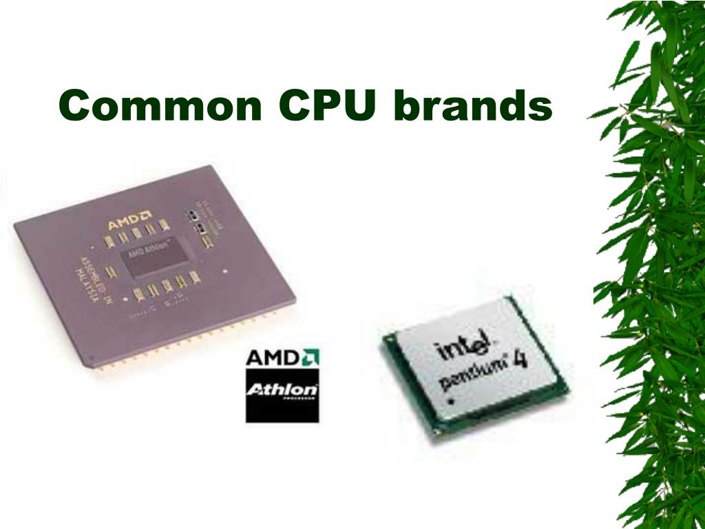 Common CPU brands