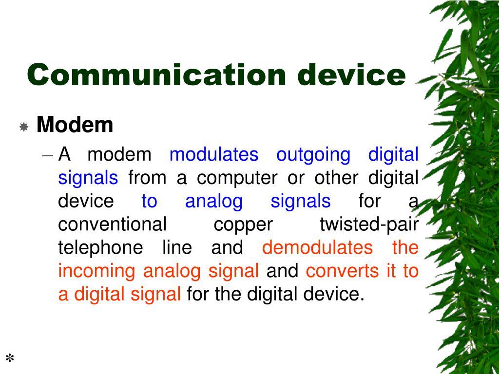 Communication device