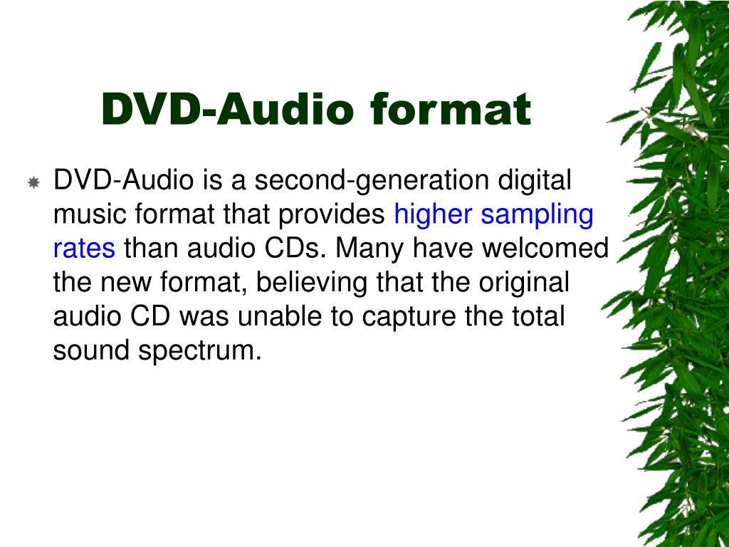 DVD-Audio format