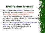 dvd video format