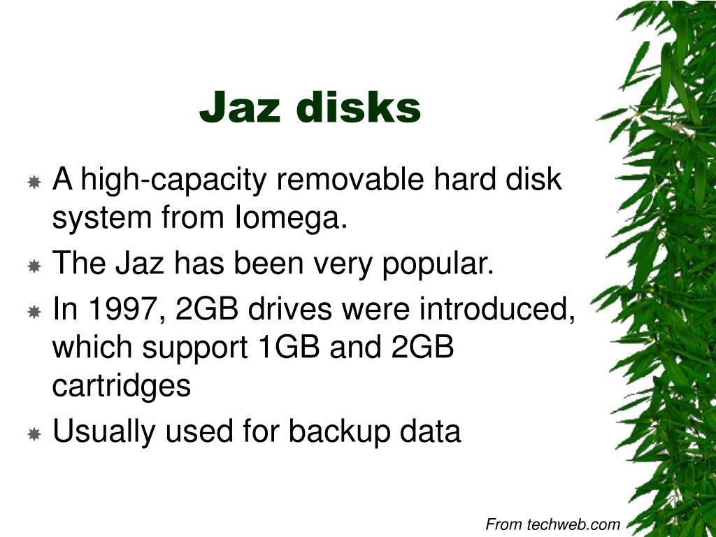 Jaz disks
