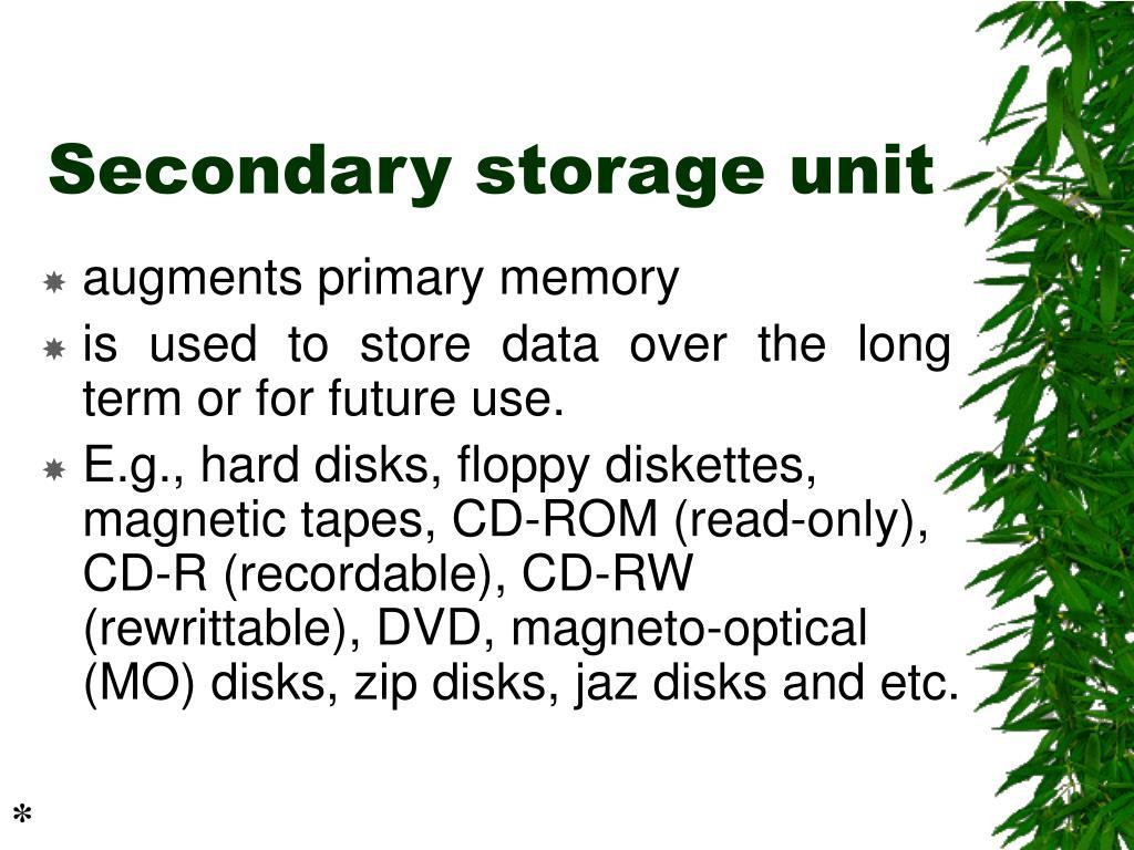 Secondary storage unit