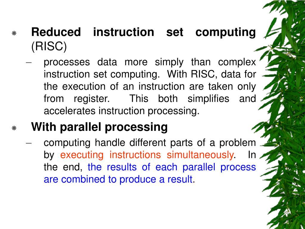 Reduced instruction set computing