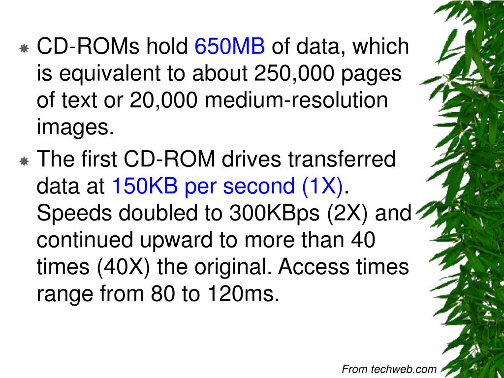 CD-ROMs hold