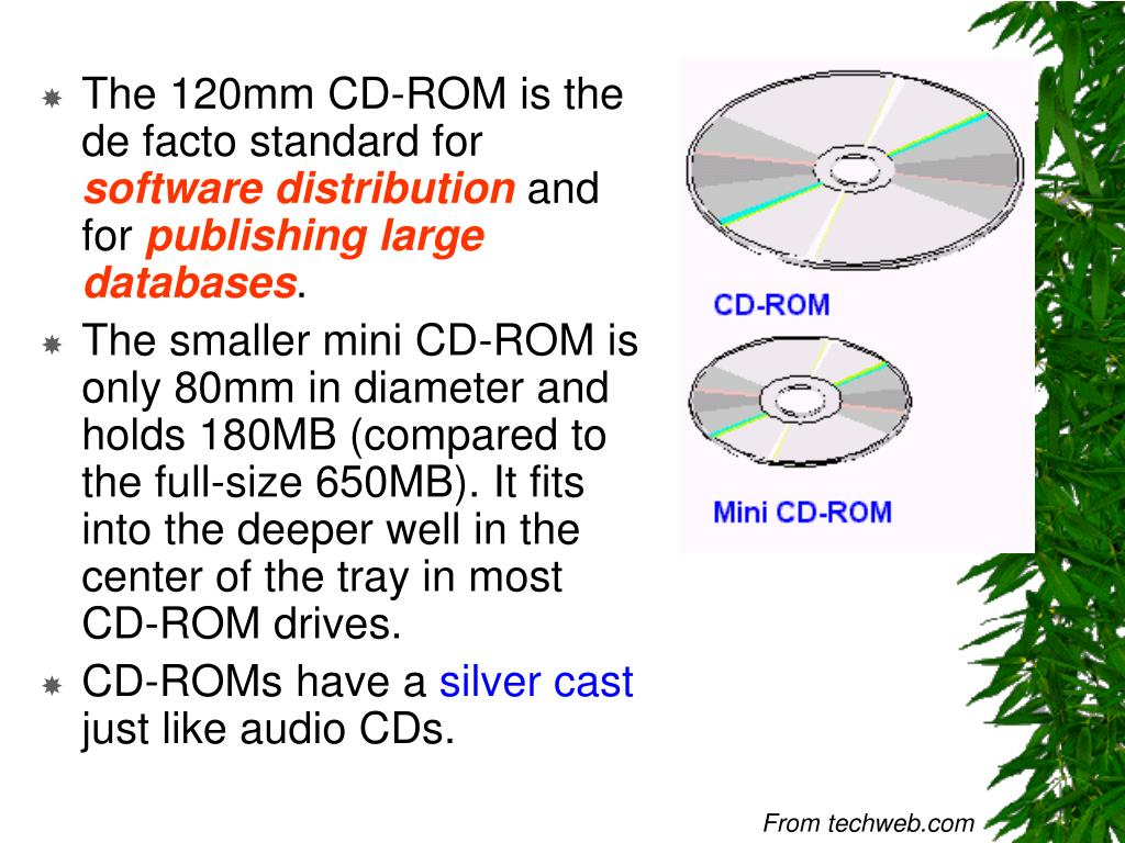 The 120mm CD-ROM is the de facto standard for