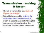 transmission making it faster