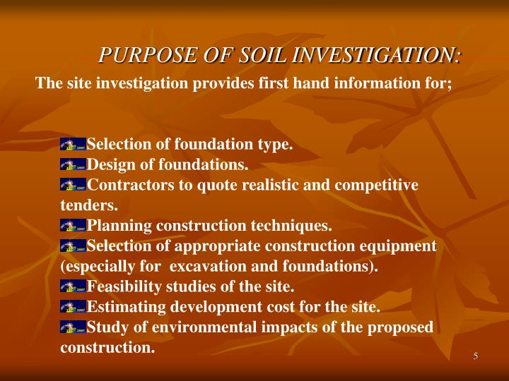 Ppt soil exploration powerpoint presentation id 613575 for Soil investigation report