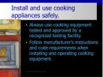 install and use cooking appliances safely32