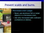 prevent scalds and burns27
