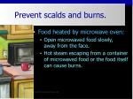 prevent scalds and burns28