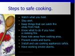 steps to safe cooking