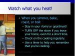 watch what you heat7