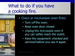 what to do if you have a cooking fire