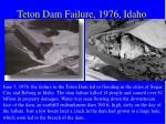 teton dam failure 1976 idaho