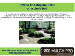 how to find square feet on a circle bed