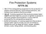 fire protection systems nfpa 96