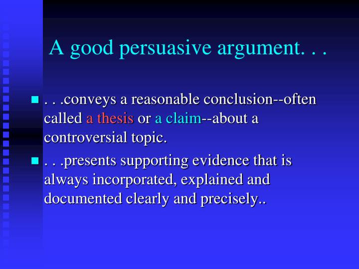documented argumentative essay topic Understanding how to structure and write an argumentative essay is a  an  argumentative essay is just about arguing one side of an issue.