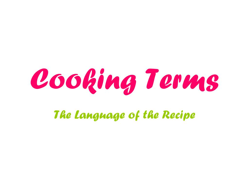 cooking terms l.