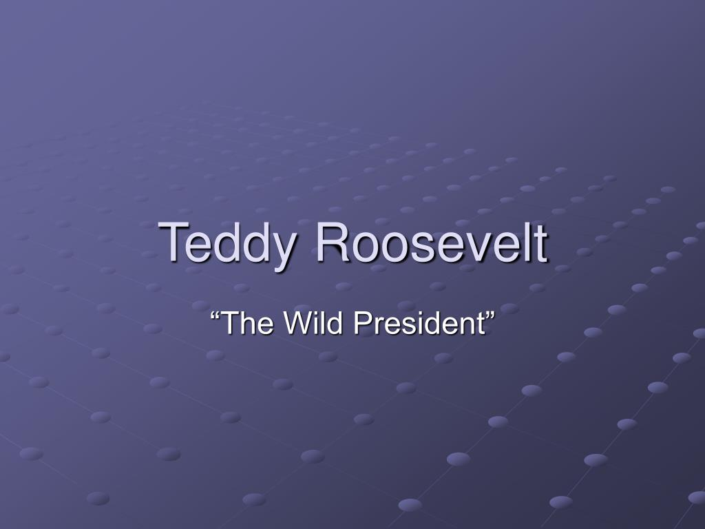 teddy roosevelt l.
