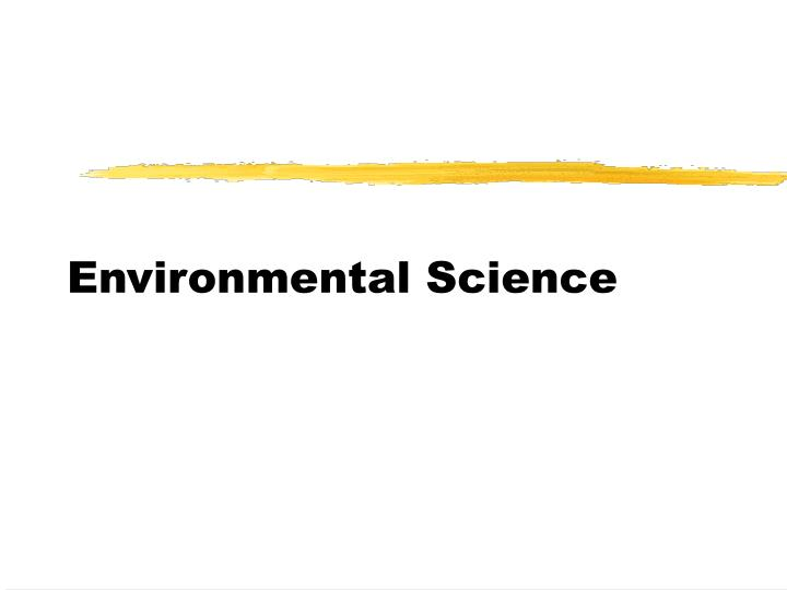 environmental science n.