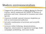 modern environmentalism