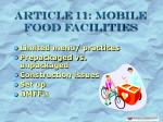 article 11 mobile food facilities